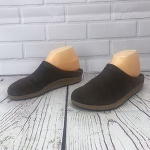 Stegmann Brown Suede/Nubuck Slide Cork Clogs Sz 9